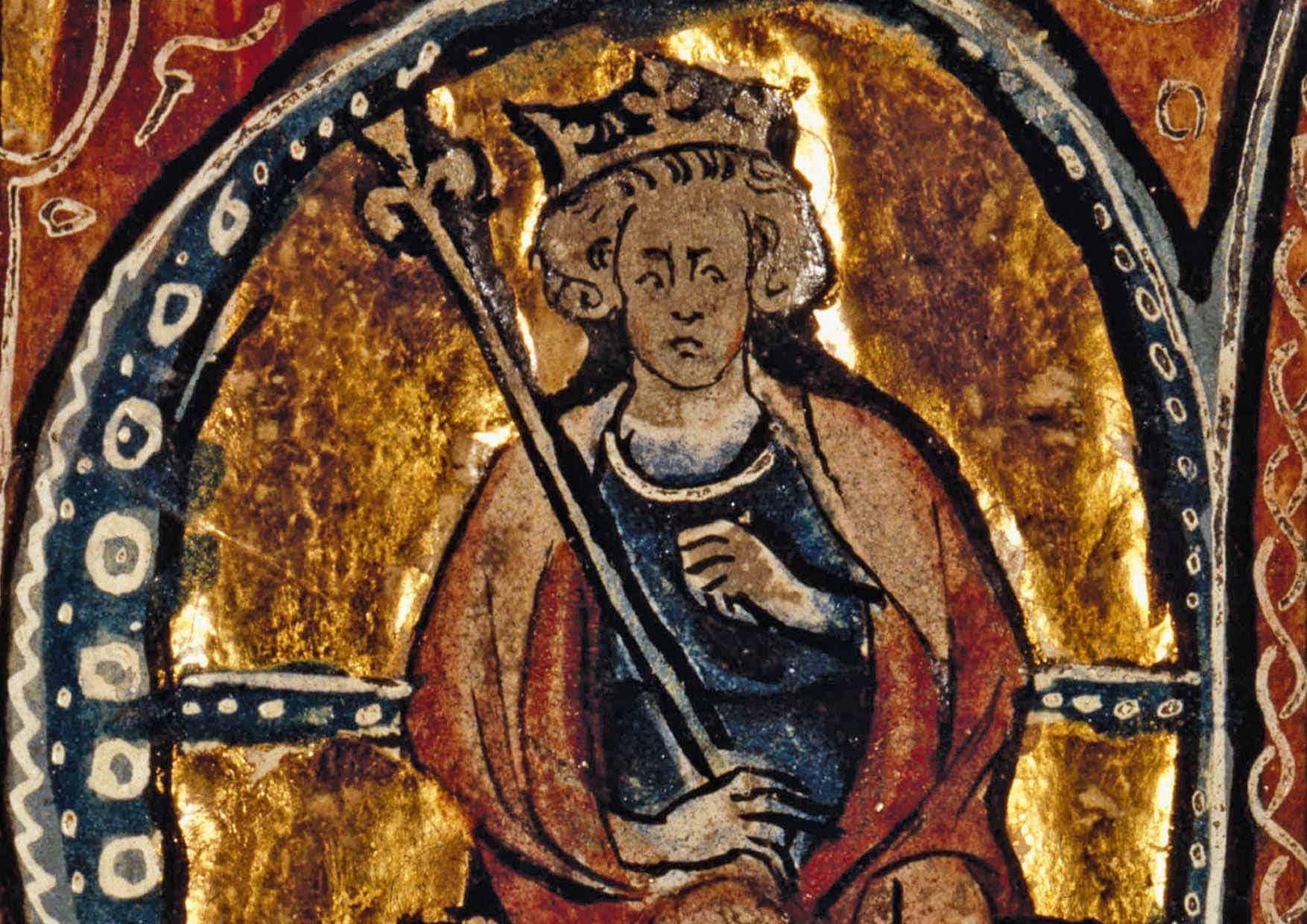 Alfred i et manuskript fra 1300-tallet. Han har blitt hyllet som Englands frelser, men skjebnen til kongedømmet hans hang i en tynn tråd ved mer enn én anledning.