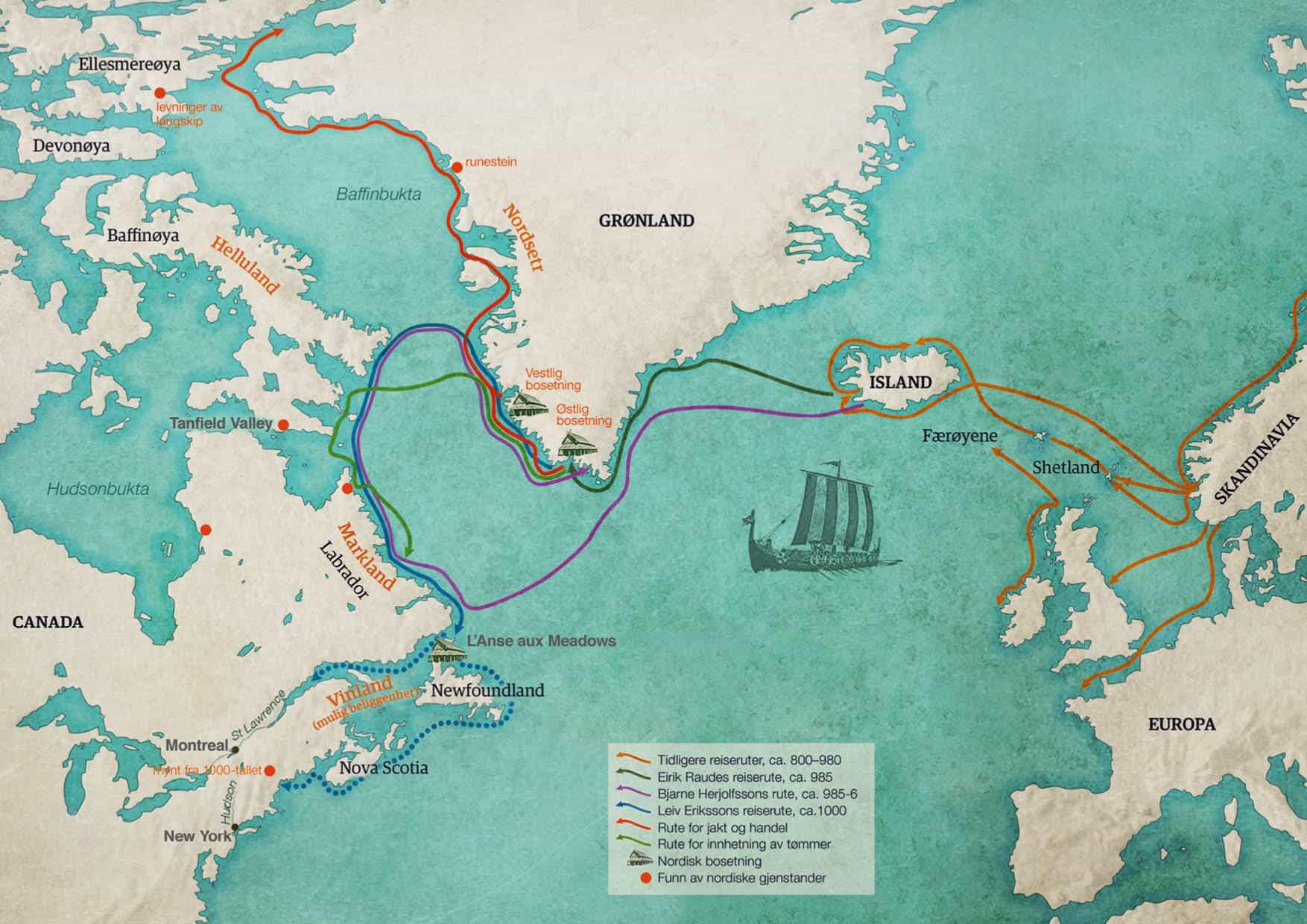 Vikingreiser over Atlanterhavet
