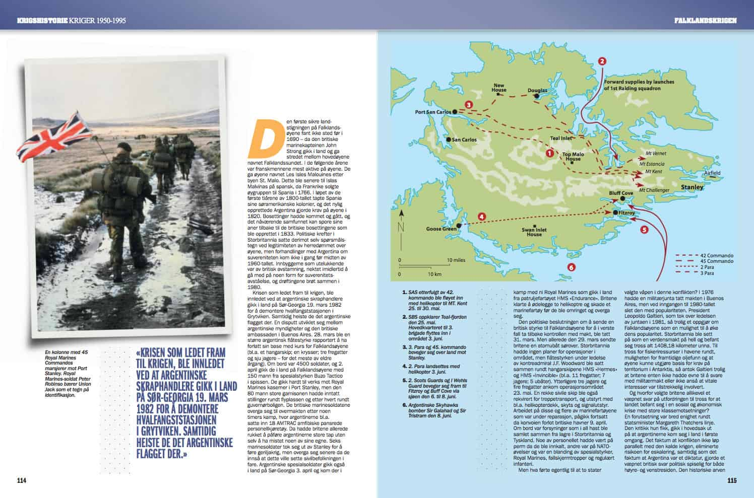 Falklandskrigen, oppslag