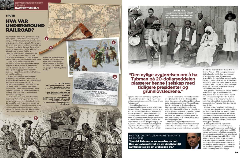 Harriet Tubman, oppslag