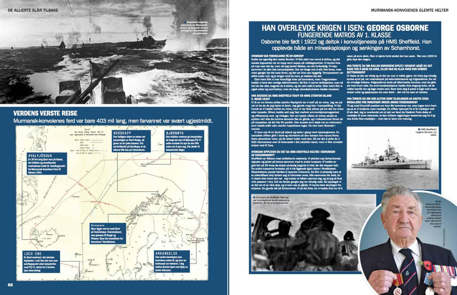 Murmansk-konvoienes glemte helter, oppslag