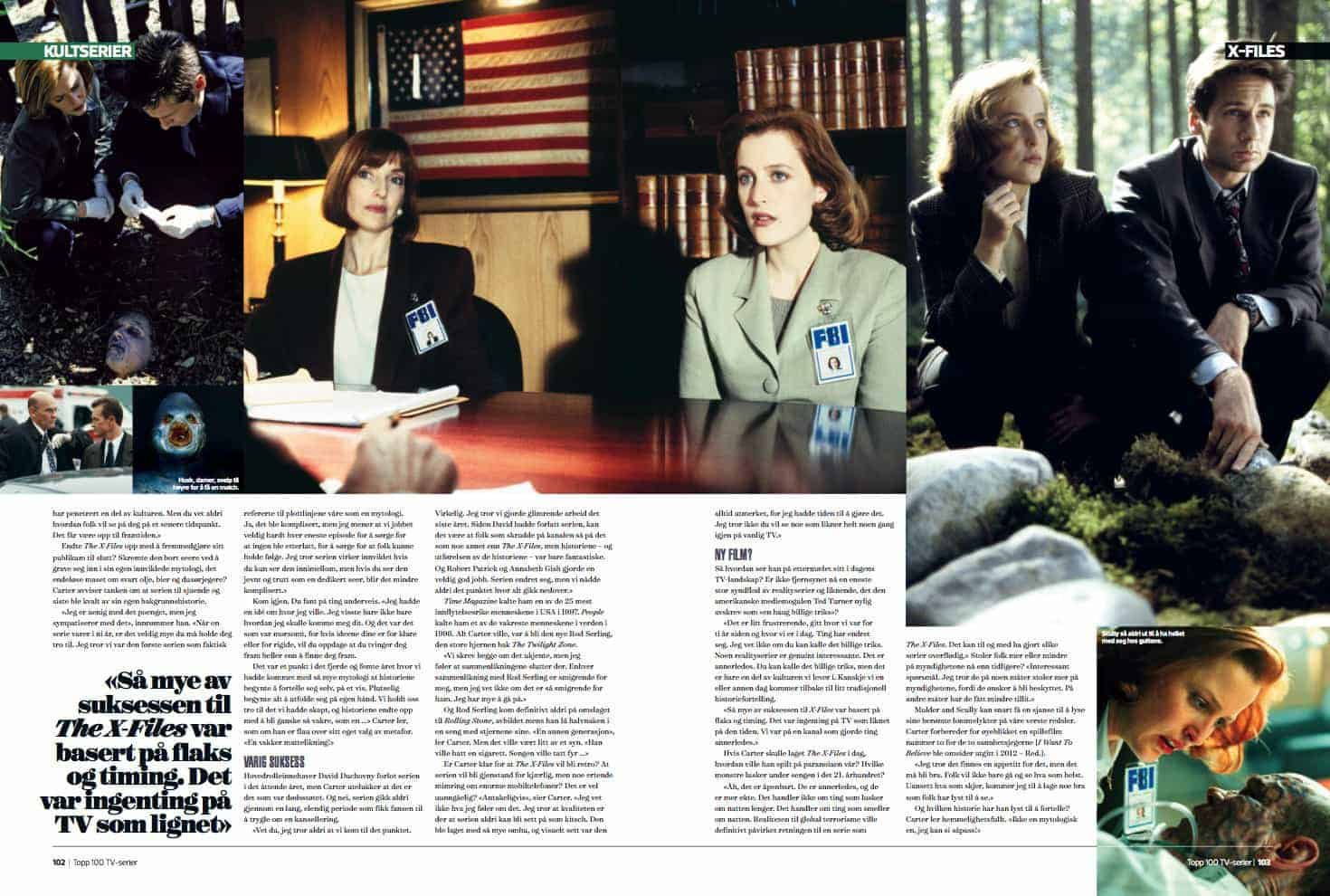 X-Files, oppslag